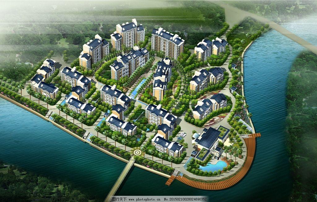 建筑设计 建筑鸟瞰图 鸟瞰图 景观设计 社区设计 共享作品 设计 环境