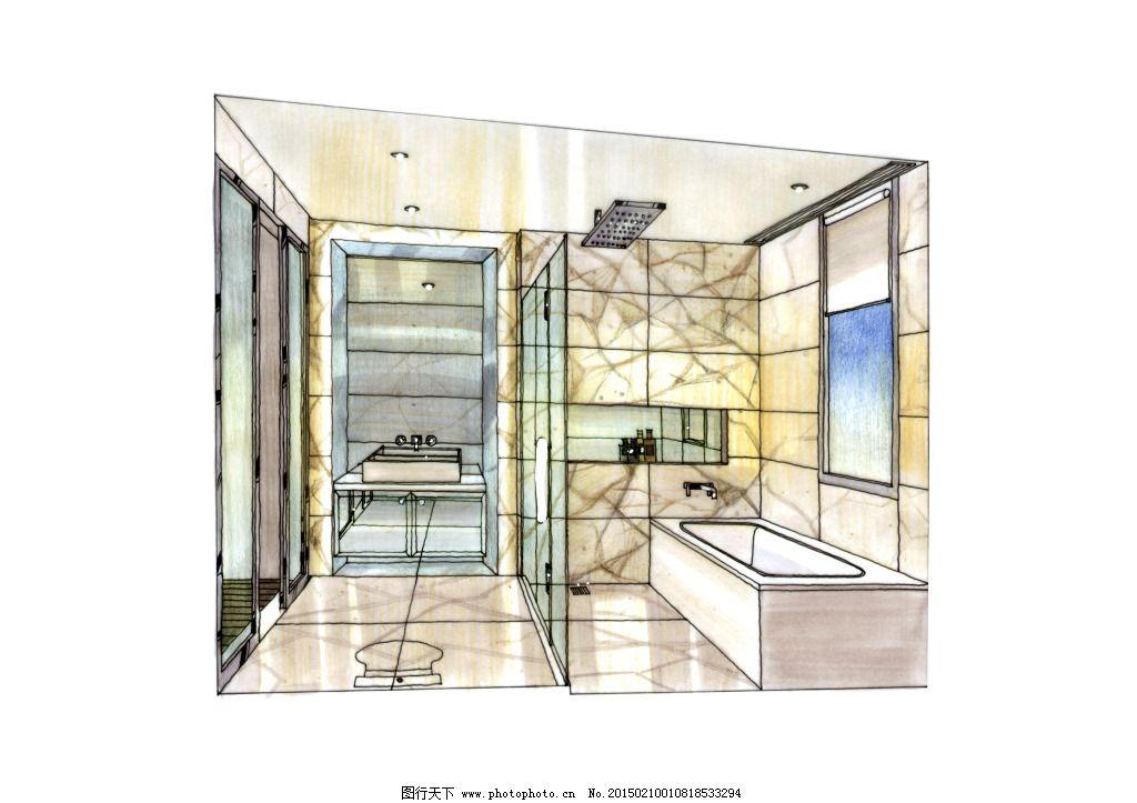 室内素材 手绘 透视图 模型 线描 绘画书法 室内素材 室内家居 欧式