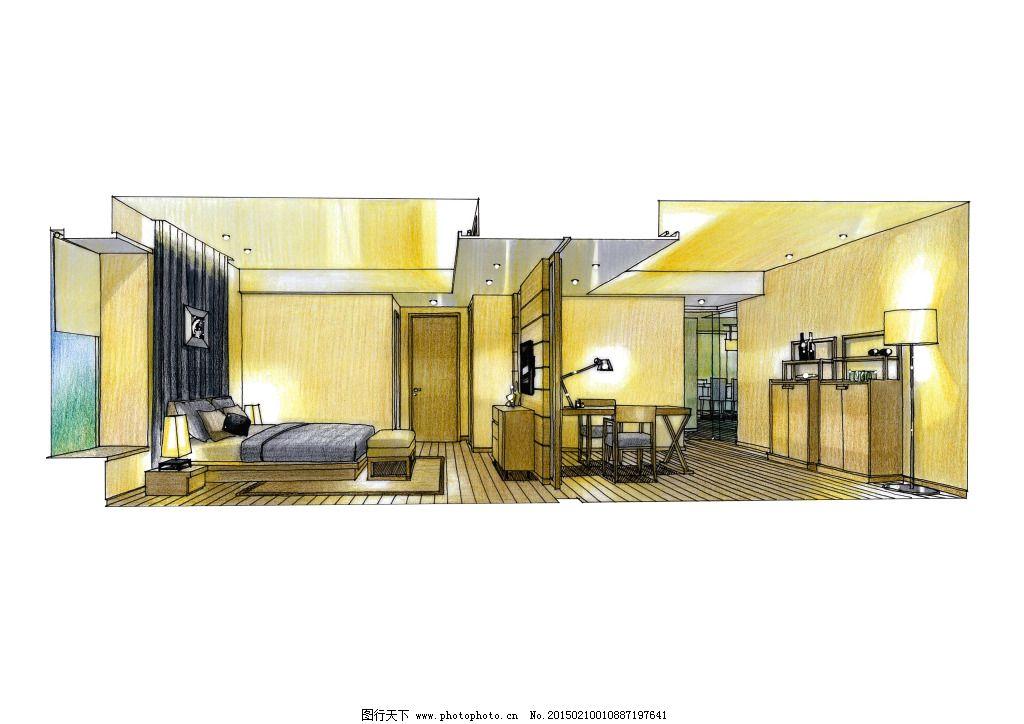 建筑家居 都市建筑 家居建筑 室内设计 手绘图片 房屋 房子 建筑透视