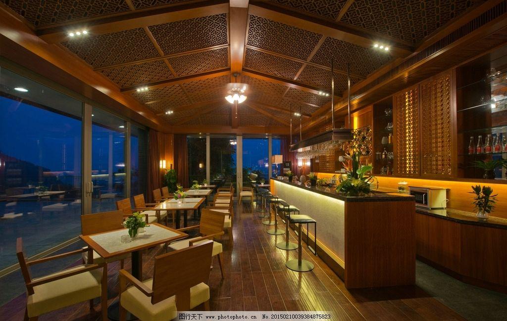 酒吧 酒店 吧台 饭店 西餐厅 餐馆 古典装修 室内 咖啡馆 建筑