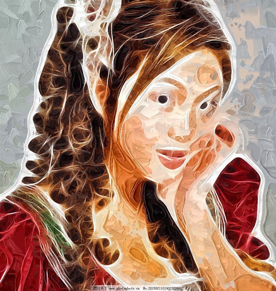 人物抽象画 装饰画图片