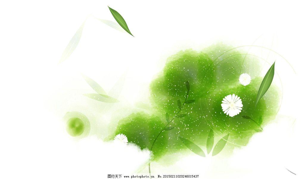 psd分层素材 绿色清新 绿色背景 清新背景 春天背景 淡雅背景 素雅