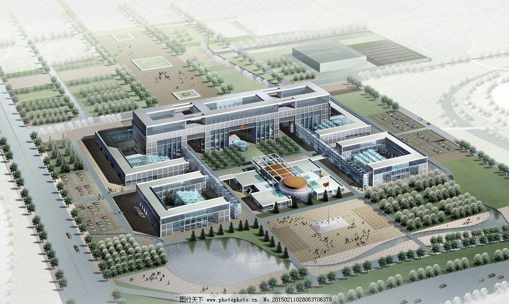 校园景观 建筑设计 景观设计 鸟瞰图设计 空间设计 共享作品 设计