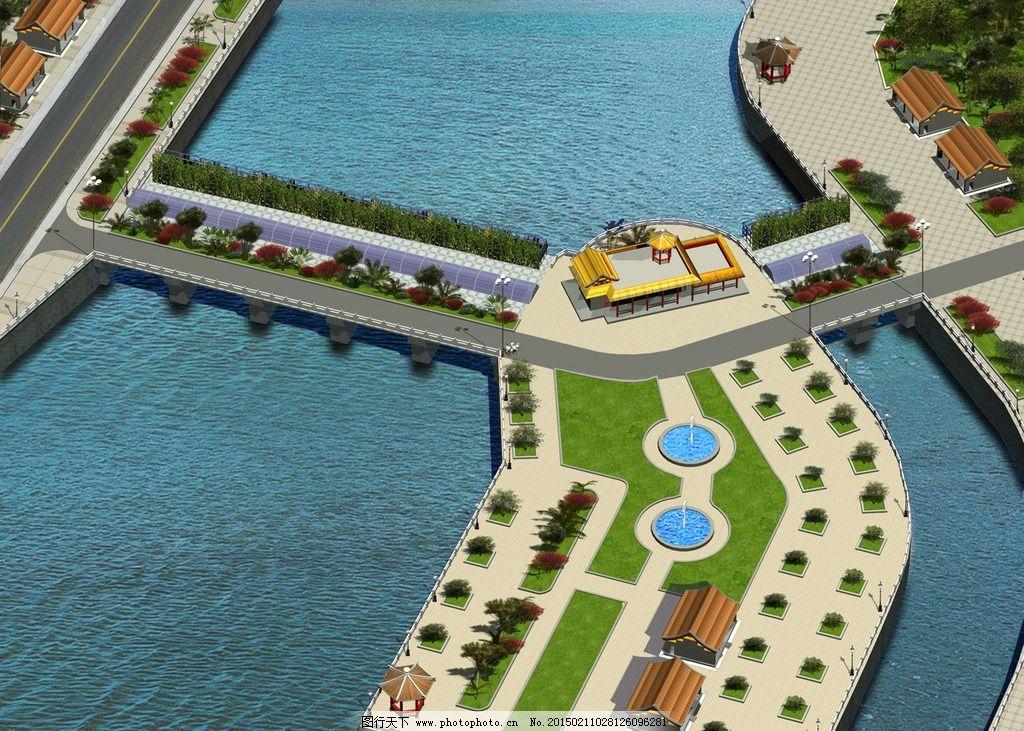 水坝景观鸟瞰图图片_景观设计_环境设计_图行天下图库