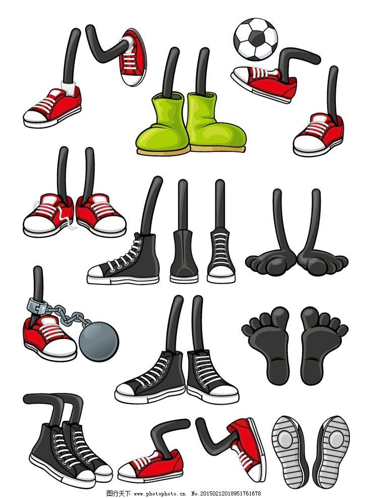 卡通人物 卡通 脚 鞋子 足球 帆布鞋 矢量图 eps格式 矢量 设计 文化