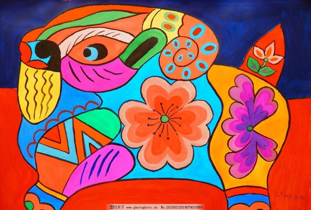 装饰画 羊 色彩 水粉画 工艺 手绘 精品 文化艺术 绘画书法