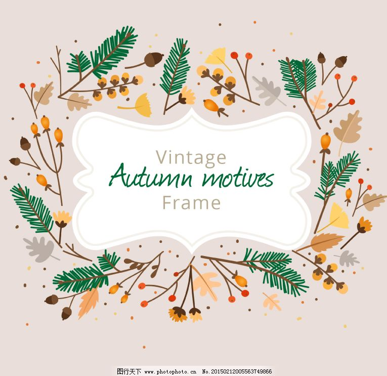 免费下载 边框 秋季 树叶 树枝 秋季 树叶 树枝 边框 矢量图 其他矢量