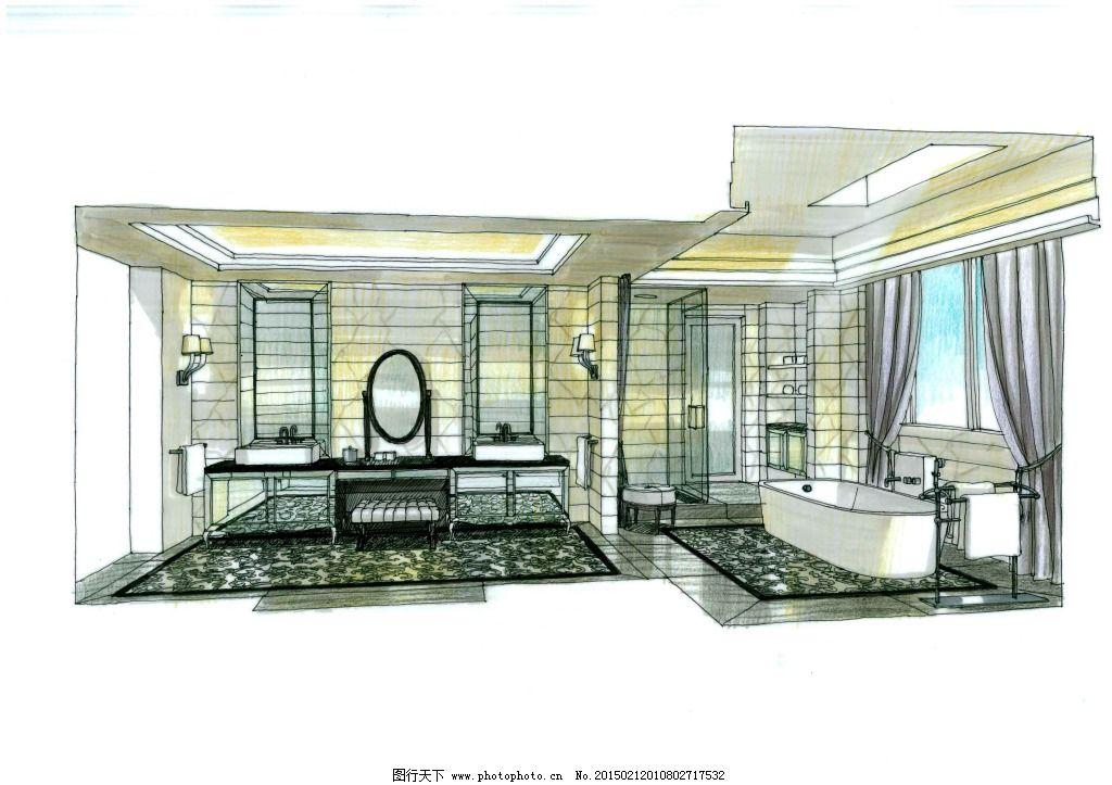 厨房空间手绘图片素材