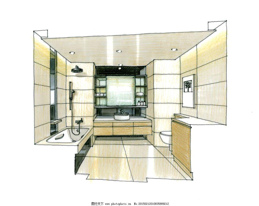 大厦室内空间手绘图片素材免费下载 房地产 建筑家居 建筑透视图 房