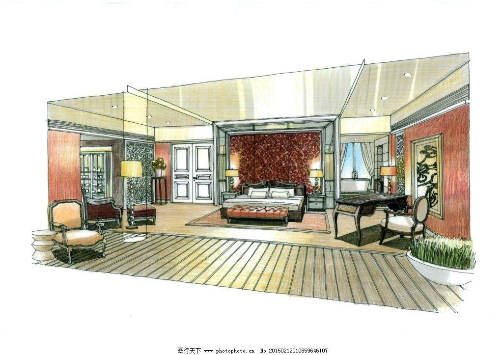 大厅手绘图片素材