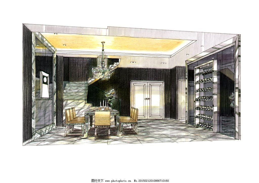 建筑效果图 模型 欧式室内建筑 室内家居 室内建筑 室内素材 手绘建筑