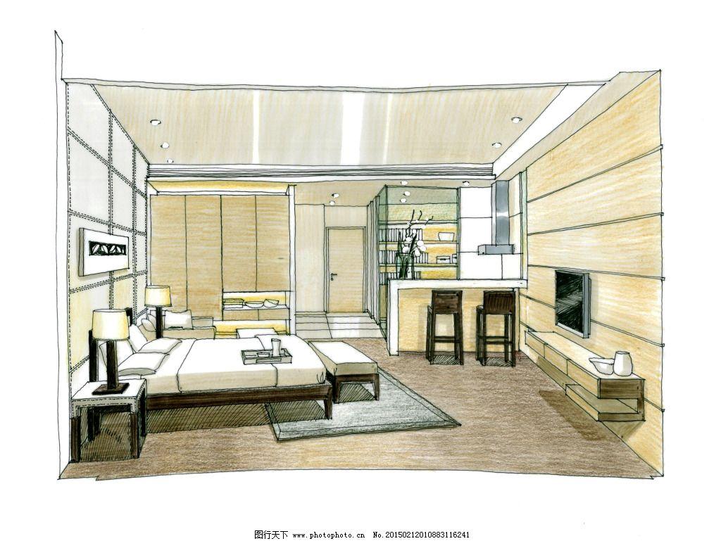 大厦室内设计手绘图片素材免费下载 3d建筑 建模 建筑效果图 模型
