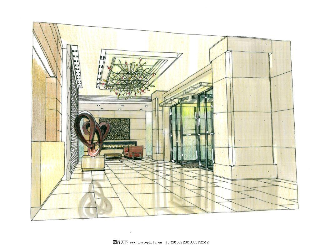 大连新世界室内手绘图片素材免费下载 城市建筑 都市建筑 建筑 建筑家