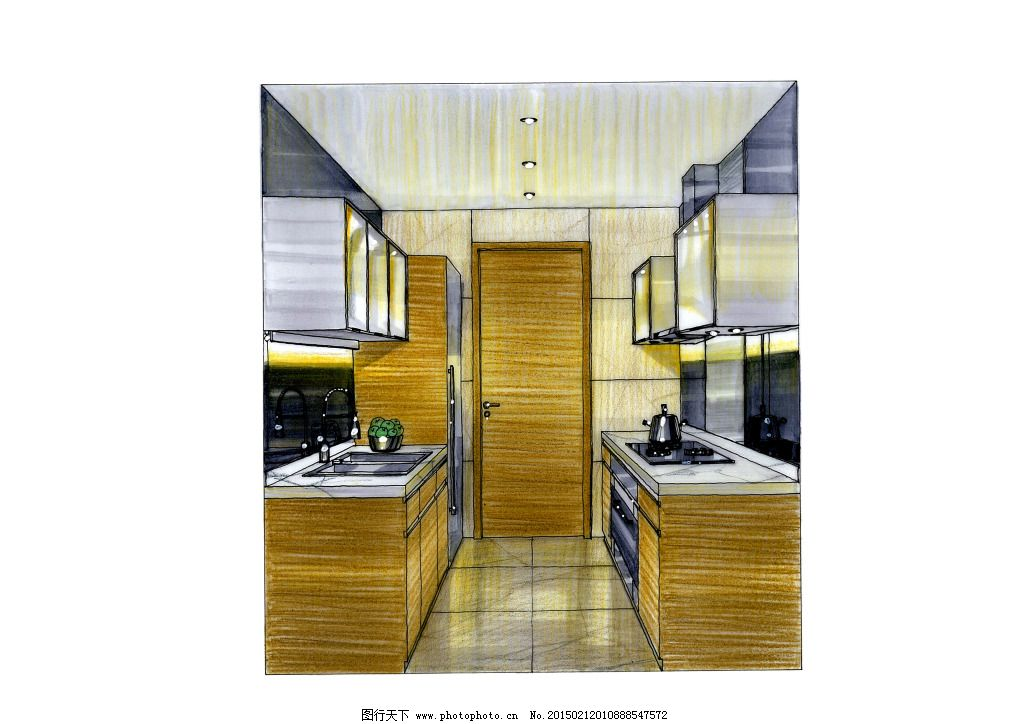 厨房手绘图片素材