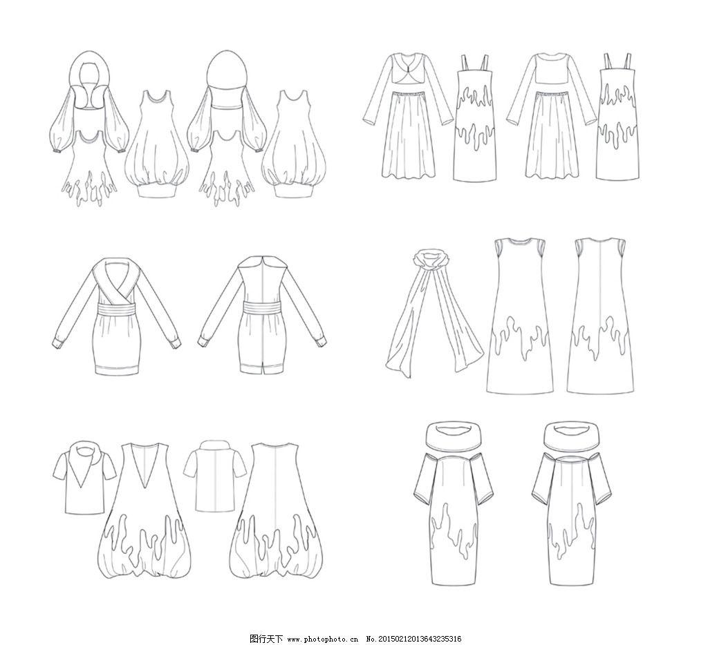 服装 民族 矢量图 民族 服装 款式设计 矢量图 服装设计 服装设计图