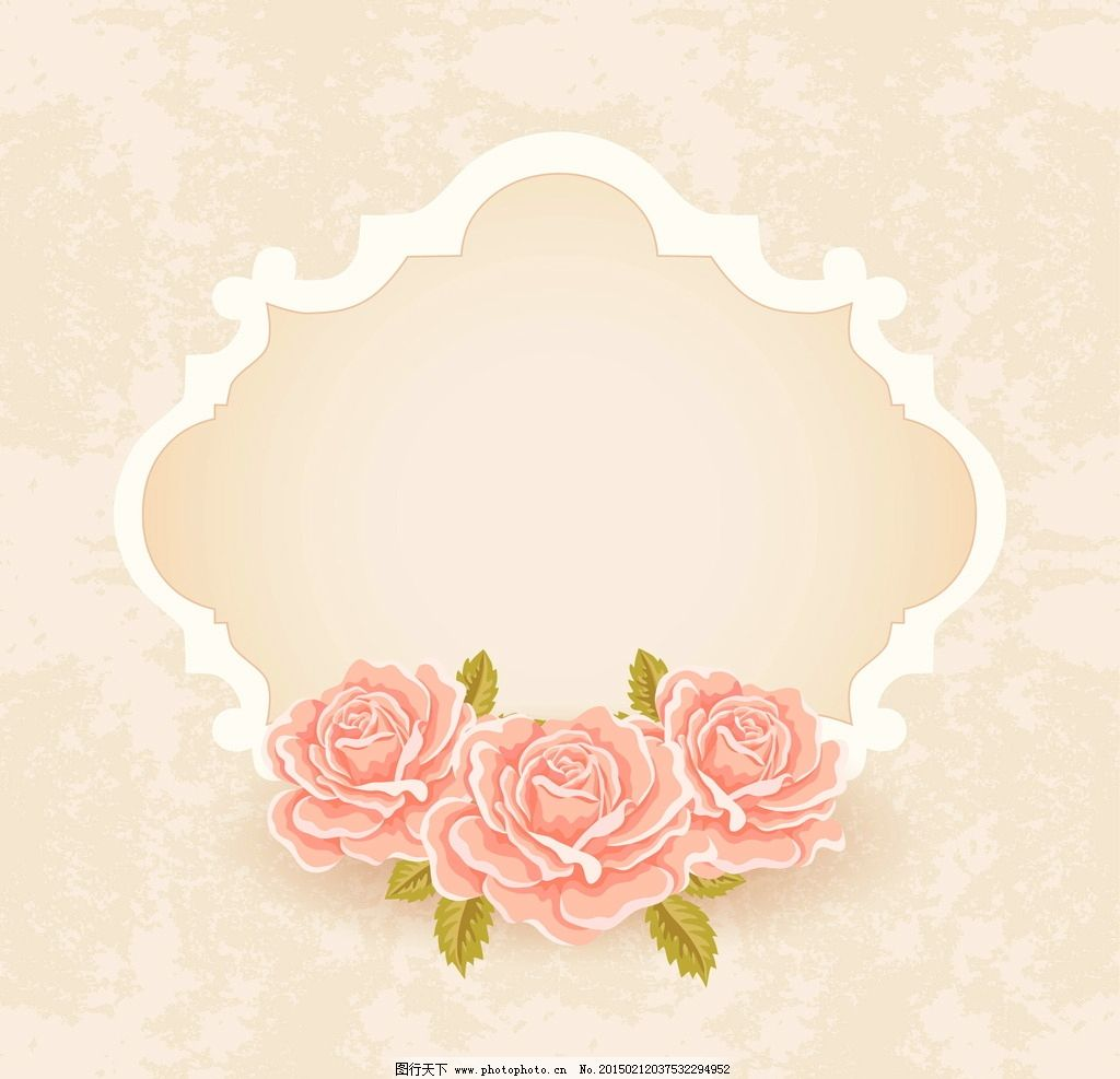 婚礼背景 红玫瑰花 花纹花卉
