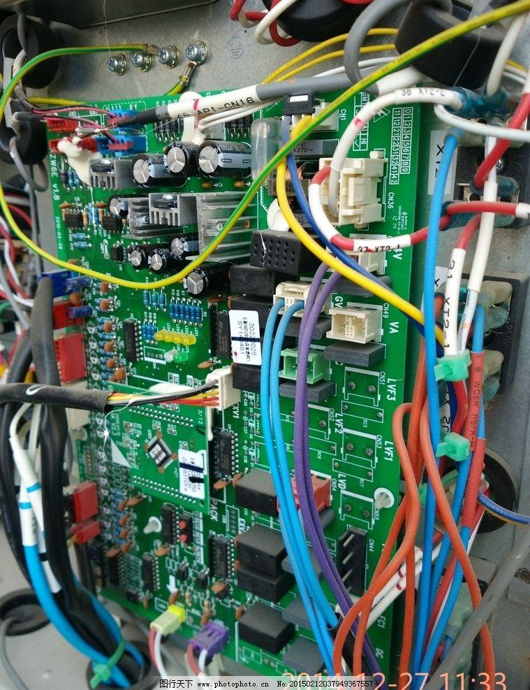 线路板 电路板 电空板 空调电空板 空调线控 控制线 配电 配电板 摄影