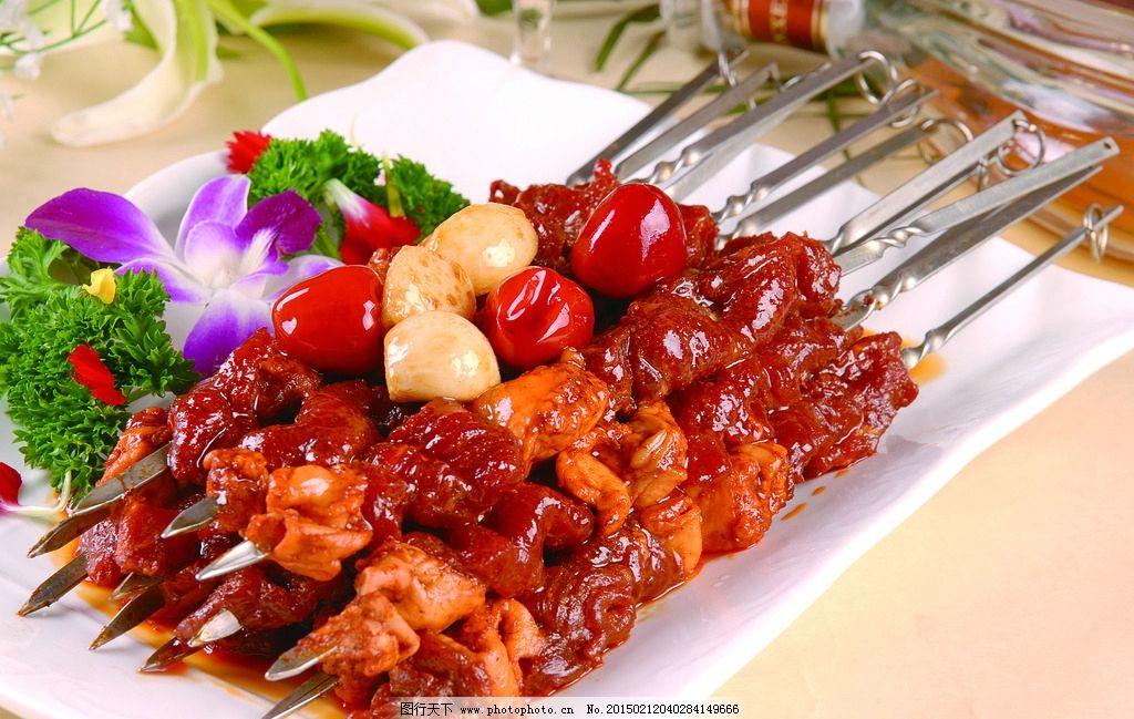 串烧肥牛 肉串 牛肉串 烧烤 酒店美食 菜式 菜品 摄影