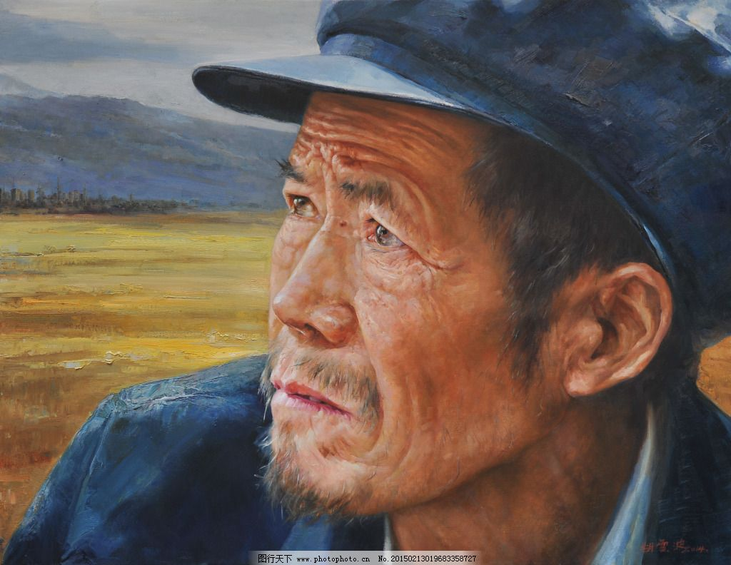 老人油画免费下载 手绘画 图片素材 手绘画 图片素材 油车 文化艺术