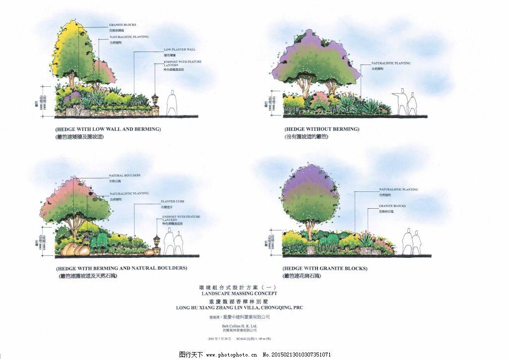重庆龙湖园林手绘图片素材