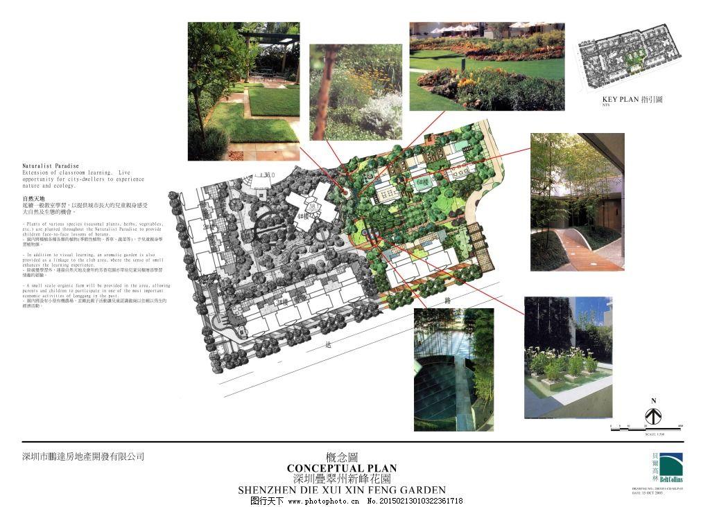 新峰花园手绘图片素材