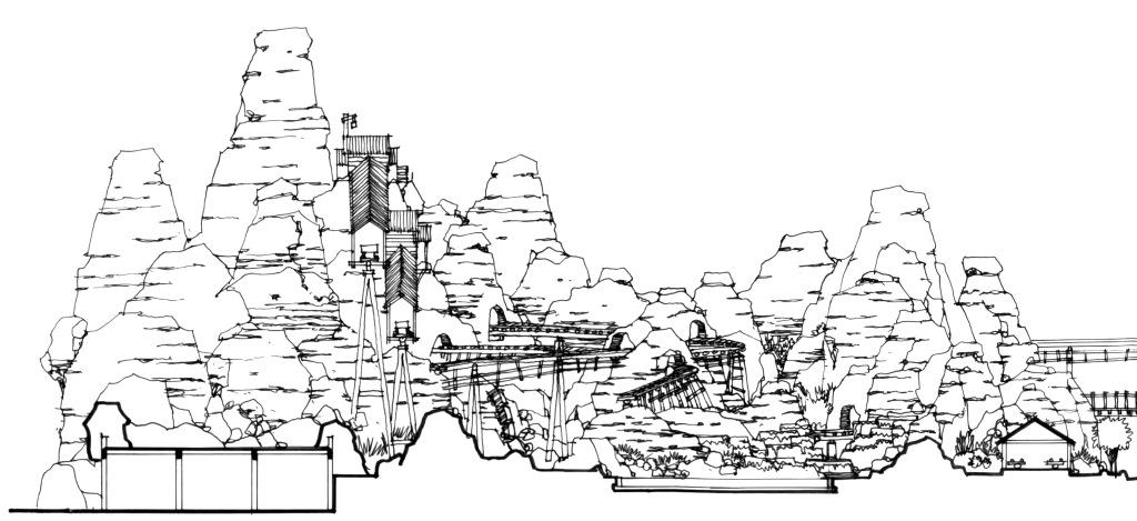 矿山园林设计手绘图片素材