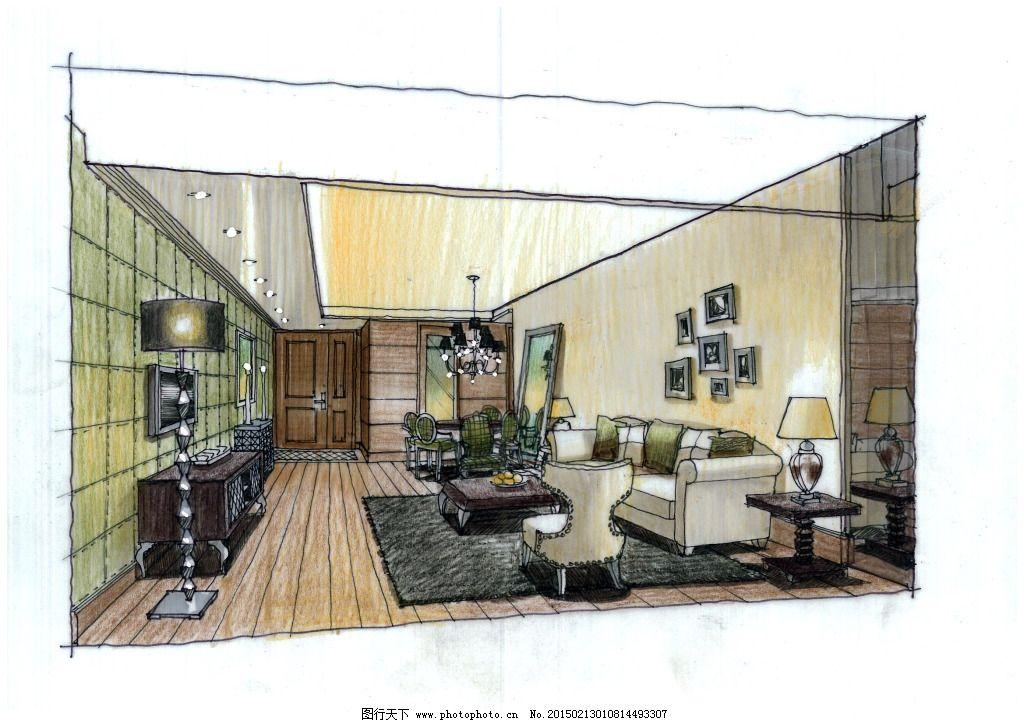 广州爱丁堡公寓设计手绘图片素材