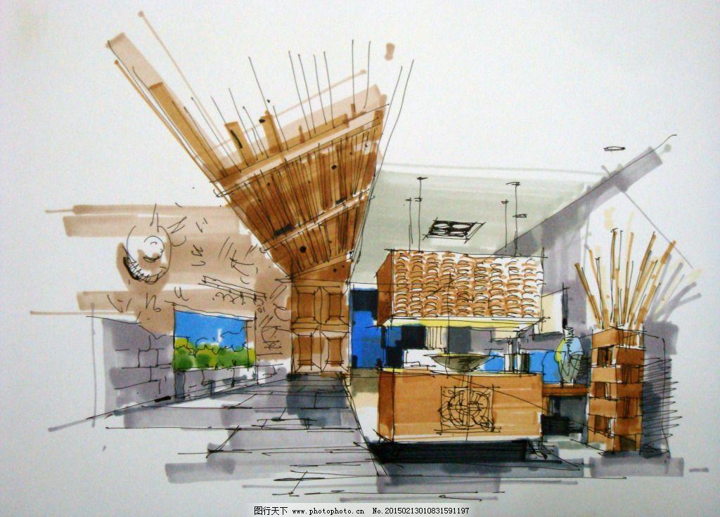 手绘 手绘建筑 素描 透视图 线描 室内设计 手绘建筑 素描 3d建筑