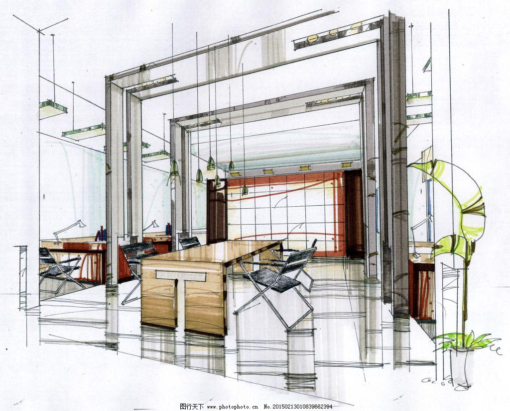 家居建筑 室内设计 手绘图片