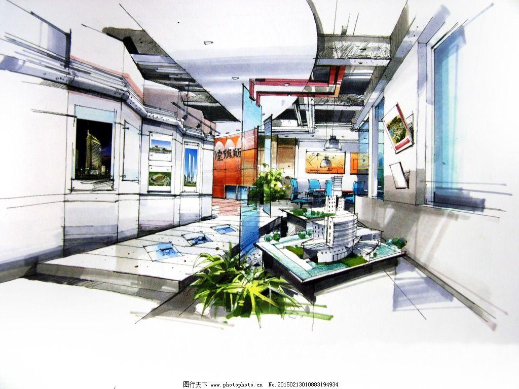 娱乐场所透视图手绘图片素材 城市建筑 都市建筑 绘画书法 建筑家居