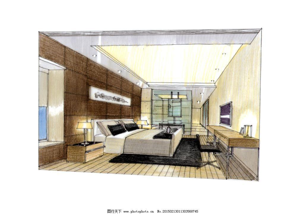 建筑效果图 建模 透视图 模型 线描 绘画书法 家居装饰素材 室内设计