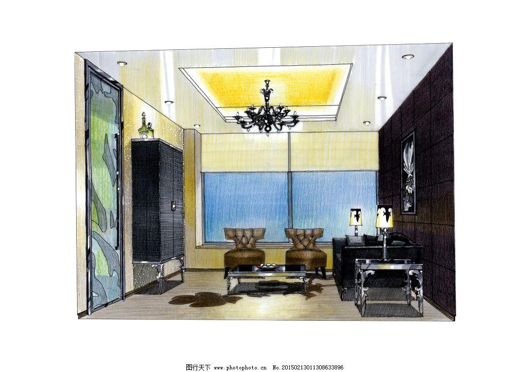 廣州萬科會所室內設計手繪圖片素材