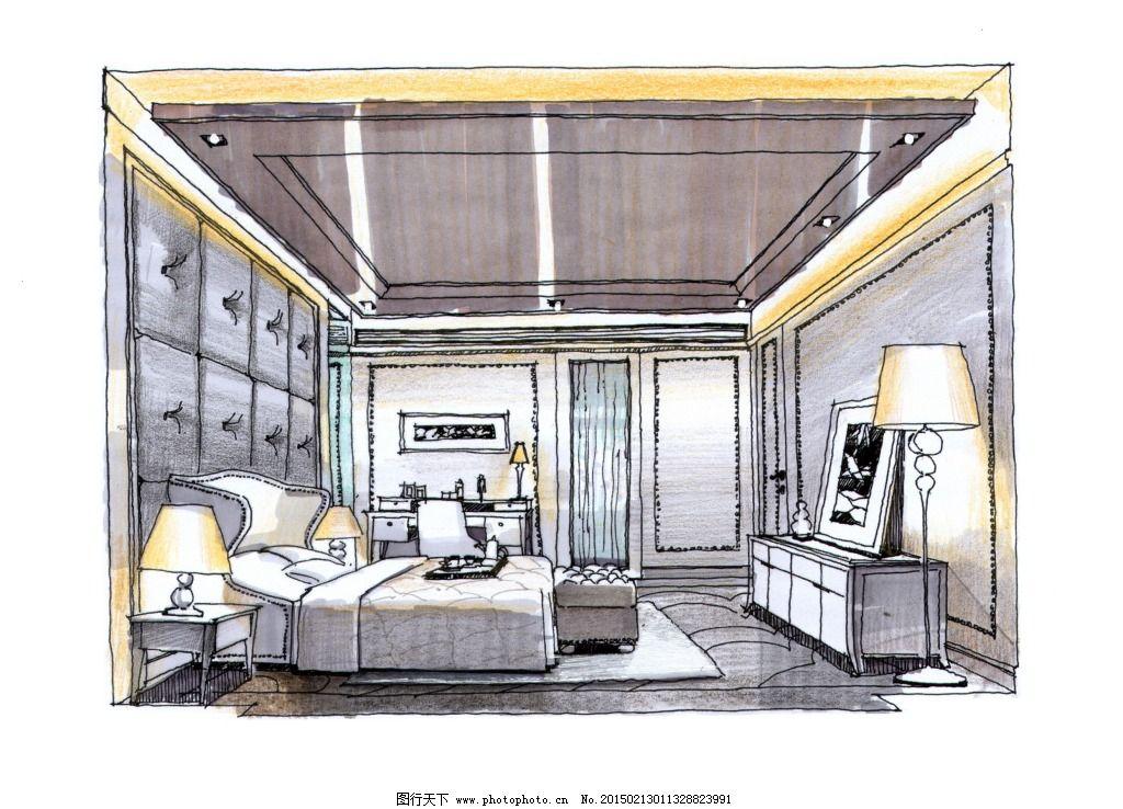 欧式室内建筑 建筑家居 效果图绘画建模建筑效果图家居透视图 模型
