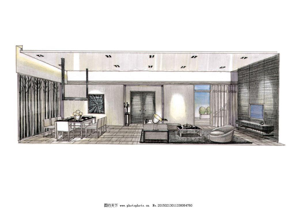手绘图片素材免费下载 绘画书法 建模 建筑家居 模型 欧式室内建筑