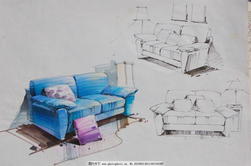 沙发手绘图片素材免费下载 室内建筑 手绘建筑 素描 绘画建模建筑建筑