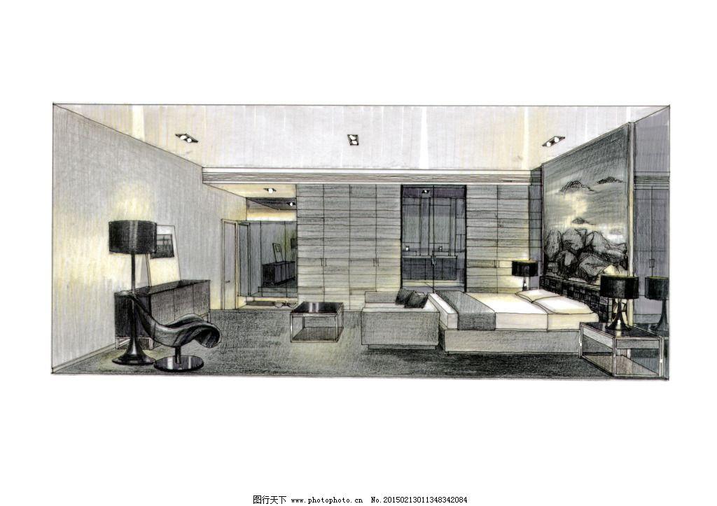 室内建筑 手绘建筑 素描 透视图 线描 手绘建筑 室内建筑 素描 3d建筑