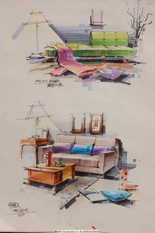 局部小品图色稿素材手绘图片素材免费下载 室内建筑 手绘建筑 素描