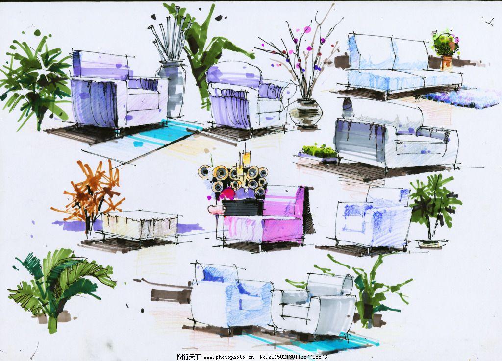 局部小品图家居手绘图片素材免费下载 3d建筑 建筑效果图 室内设计 手