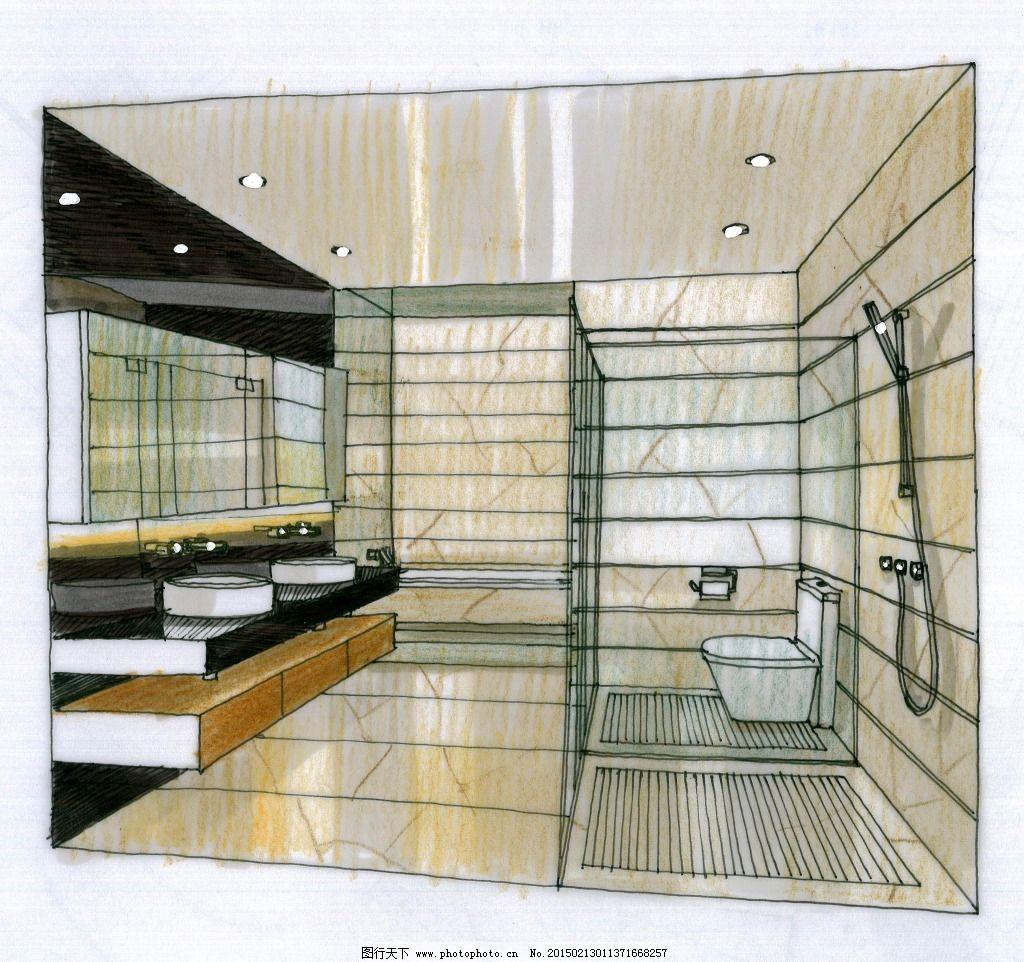 水岸星城设计手绘图片素材