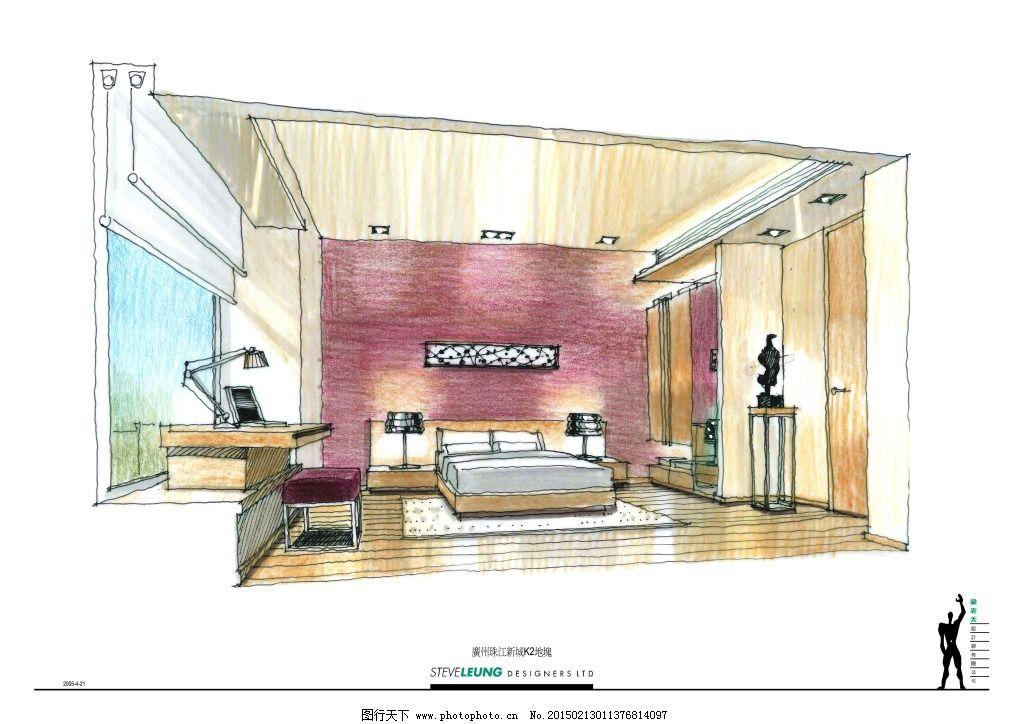 广州中海珠江室内手绘图片素材