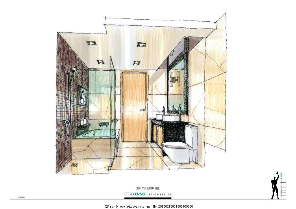室内设计 手绘建筑 效果图模板下载 建筑效果图家居透视图 模型大厅