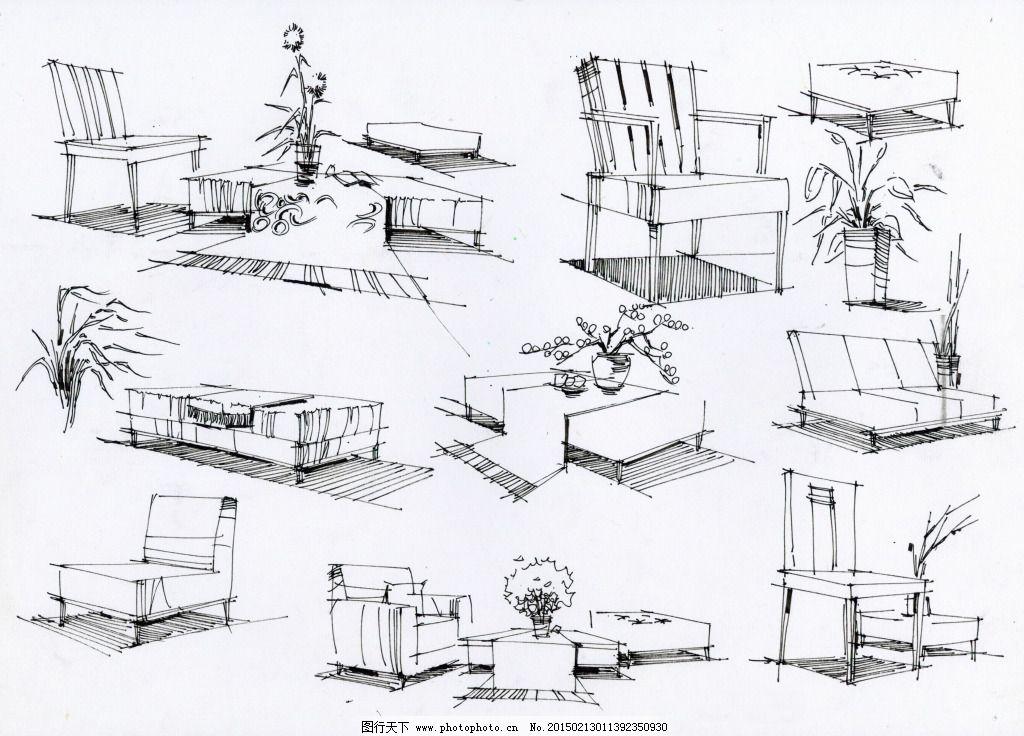 局部小品图设计素材手绘图片素材免费下载 室内建筑 手绘建筑 建模