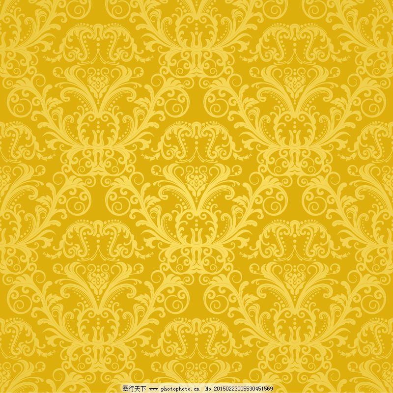 欧式金色花纹背景矢量素材. 欧式金色花纹背景矢量素材免费下载 矢量图