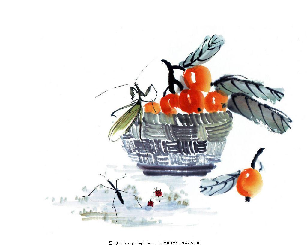 水墨画樱桃
