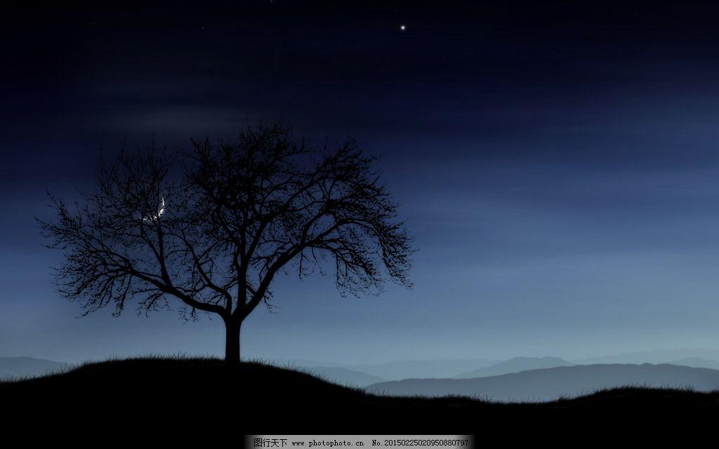 大树背景免费下载 黑色 树木 月亮 黑色 树木 月亮 图片素材 背景图片