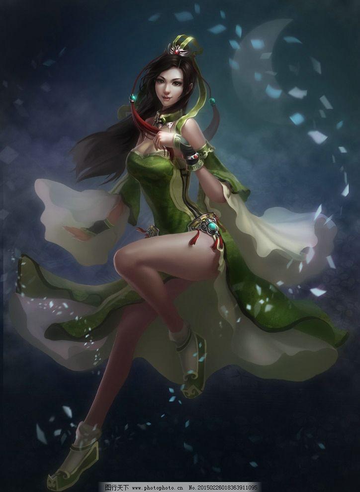 古风设计图 大图 插画 原画 手绘 古装 美女 角色 人物 游戏