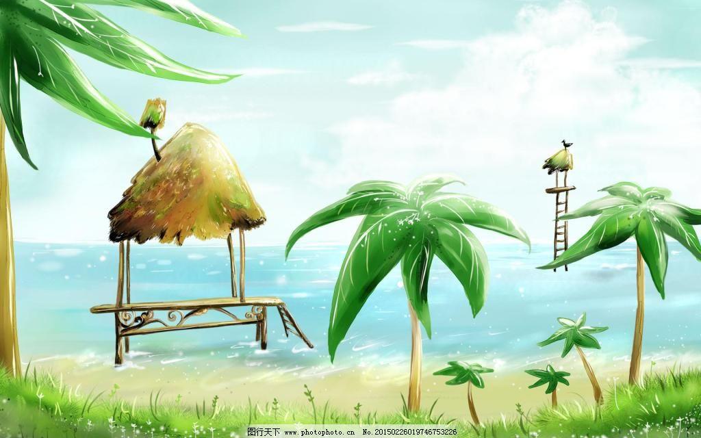椰子树插画