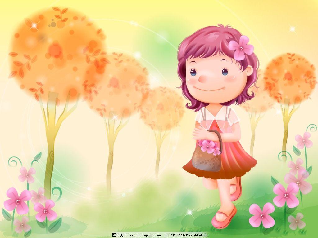 qq头像小孩鲜花