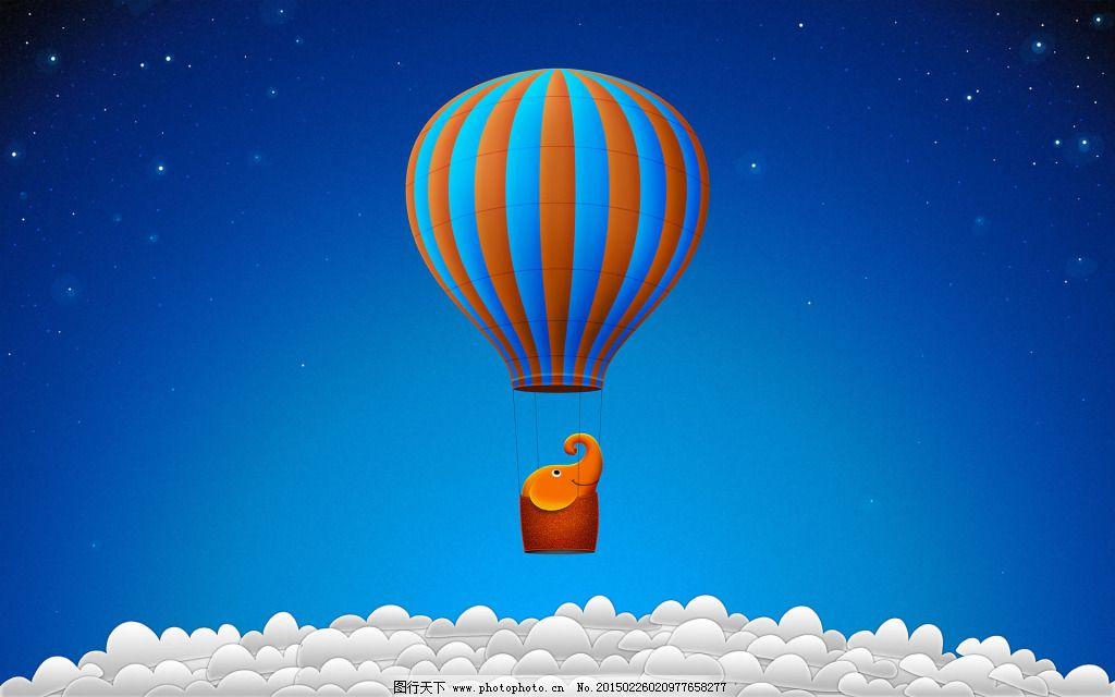 热图-带有热气球的背景图图片