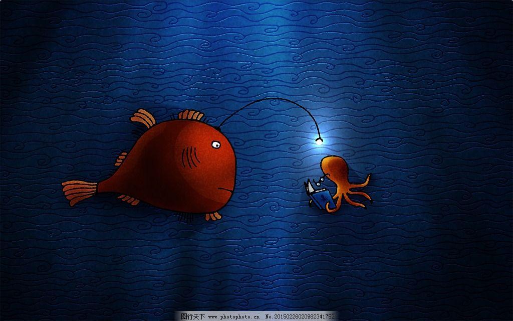 创意海底_背景图片_底纹边框